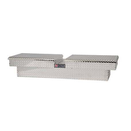 Tractor Supply Full-Size Gull Wing Aluminum Tool Box, Silver, DZ 8370TSC