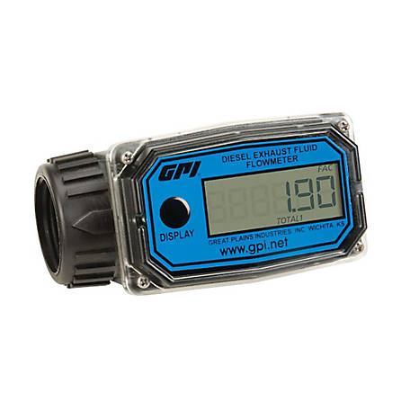 GPI 1 in. or 3/4 in. DEF Digital Meter, 01N31GM-U