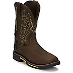 Justin Men's Rustic Barnwood Waterproof Hybred Composition Toe Work Boots