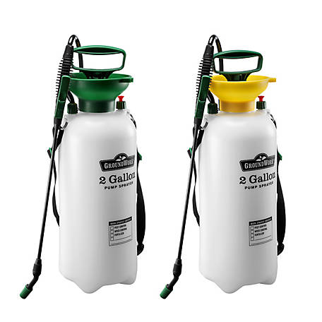 GroundWork Pump Sprayer, 2 gal. Capacity, Pack of 2, LFSX-8A2