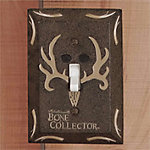Bone Collector Single Switch Plate, Brown