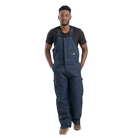 Berne Men's Twill Quilt-Lined Insulated Bib Overall