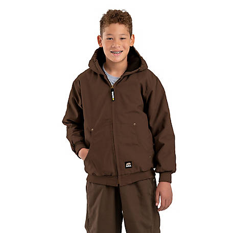 Berne Youth Washed Quilt-Lined Hooded Jacket