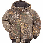 Berne Youth Realtree Xtra Camouflage Quilt-Lined Insulated Hooded Jacket