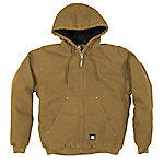 Berne Men's Washed Duck Quilt-Lined Insulated Hooded Jacket