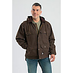 Berne Men's Washed Duck Fleece-Lined Hooded Contractor Coat