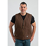 Berne Men's Duck Sherpa-Lined V-Neck Vest