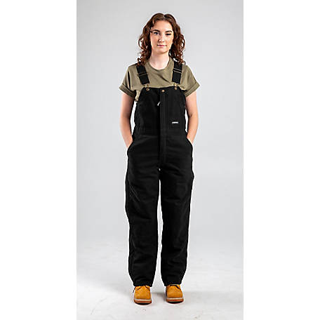 Berne Ladies' Sanded/Washed Duck Quilt-Lined Insulated Bib Overall