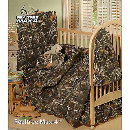 Realtree Max-4 Crib Bed Skirt
