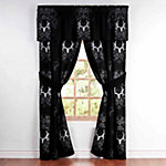 Bone Collector Black/Grey Valances, 88 in. x 18 in.