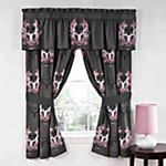 Bone Collector Grey/Pink Valances, 88 in. x 18 in.