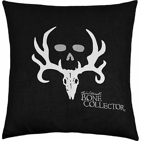 Bone Collector Square Pillow, Black