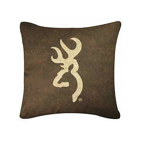 Browning Buckmark Square Logo Pillow