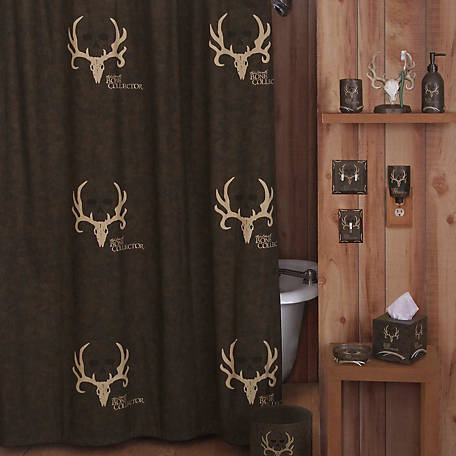 Bone Collector Shower Curtain, 72 in. x 72 in., No Liner