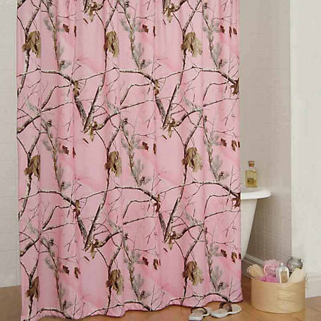 Realtree AP Pink Shower Curtain 72 In X No Liner