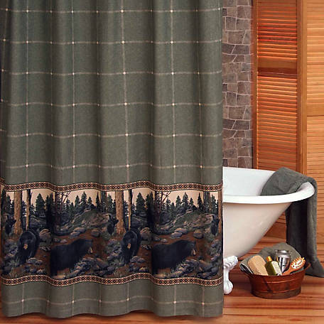 Blue Ridge Trading The Bears Shower Curtain, 72 in. x 72 in., No Liner