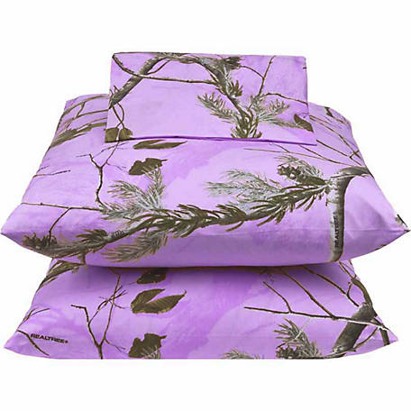 Realtree AP Lavender Twin Sheet Set