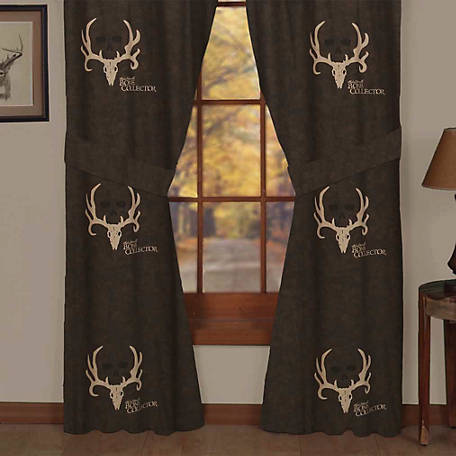 Bone Collector Drapes, Lined, 84 in. x 42 in., 2 Panels