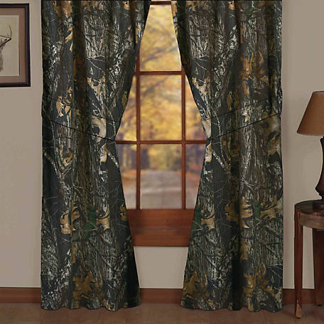 Mossy Oak New Break Up Drapes, Lined, 87 in. x 42 in., 2 Panels