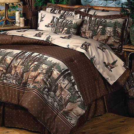 Blue Ridge Trading Whitetail Dreams Twin Sheet Set