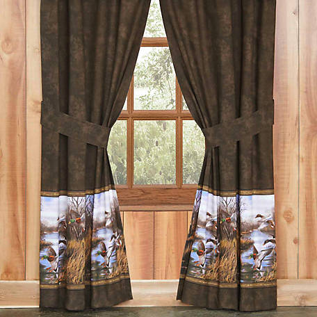 Blue Ridge Trading Duck Approach Drapes, Lined, 84 in. x 42 in., 2 Panels