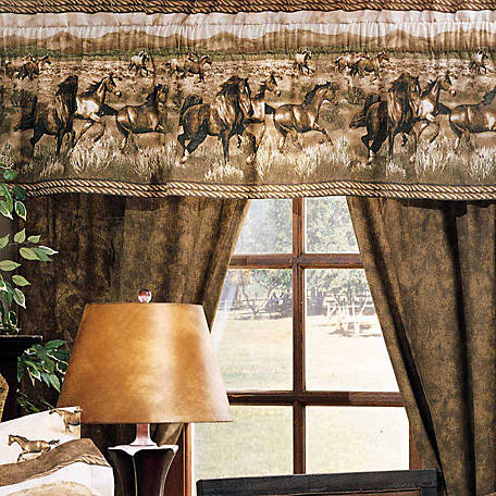Karin Maki Wild Horse Drapes, Lined, 84 in. x 42 in., 2 Panels