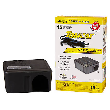 Tomcat Rat Killer Refillable Station, 15 x 30 gm Bait Blocks, 22814