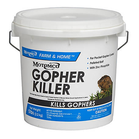 Motomco Gopher Killer, 5 lb. Pail Pellets, 32541