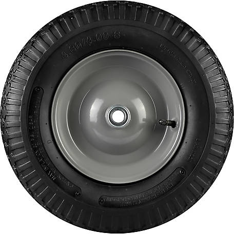 16 in. x 4.00-8 in. Pneumatic Wheels with Diamond Tread, 3/4 in. Bore Size