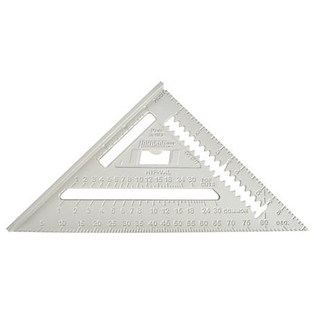 Johnson Level 7 in. Johnny Square Professional Aluminum Rafter Square, MRAS-1B