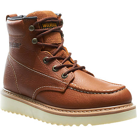 Wolverine Men's Moc-Toe 6 in. Wedge Heel Soft Toe Work Boot