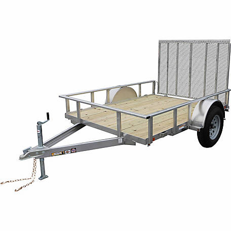 Carry-On Trailer 5-1/2 ft. x 10 ft. Open Aluminum Frame Wood-Floor Utility Trailer, Model #: 5.5X10AGW