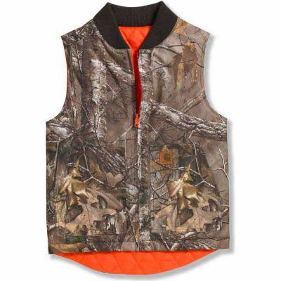 Carhartt Boys' Reversible Camo Vest