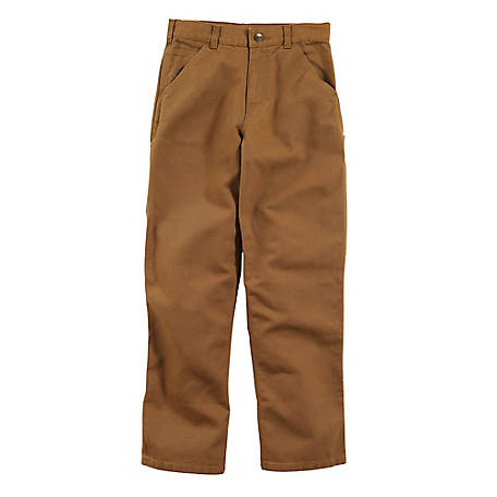 Carhartt Boys' Canvas Dungaree Pant with Adjustable Waist