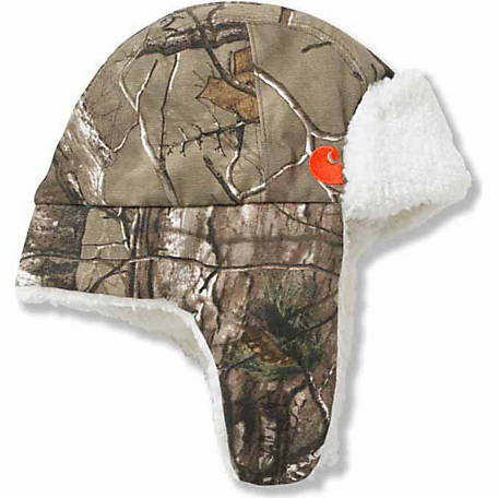 Carhartt Toddler Sherpa Lined Camo Duck Cap
