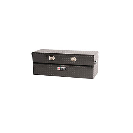 Tractor Supply Single Lid Aluminum Chest Tool Box, Black, 46 in., 8768TSCB