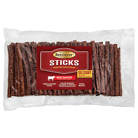 Retriever Beef Basted Munchy Sticks, Pack of 100