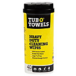 Tub O' Towels Heavy Duty Cleaning Wipes, 40 ct, TW40