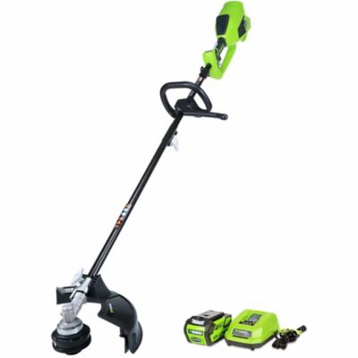 Buy Greenworks 21362 G-MAX 40V 14 in. Cordless String Trimmer (Attachment Capable); 4Ah Battery and Charger Included Online