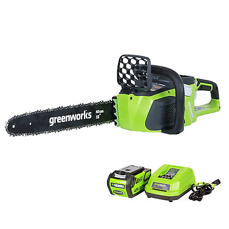GreenWorks 20312 G-MAX 40V 16 in. DigiPro Cordless Chainsaw Includes Battery and Charger