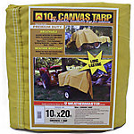 Weathermaster 10 oz. Canvas Tarp, 10 ft. x 20 ft.