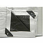 Weathermaster Heavy Duty, Black/Silver Poly Tarp, 40 ft. x 40 ft.