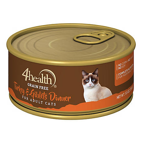 4health Grain-Free Turkey & Giblet Dinner for Cats 5.5 oz. Can