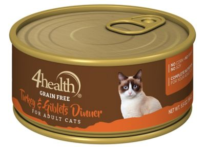 4health Grain Free Turkey Giblet Dinner For Cats 5 5 Oz Can At