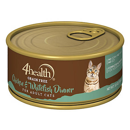 4health Grain Free Chicken & Whitefish Dinner for Cats, 5.5 oz. Can