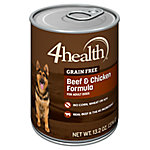 4health Grain Free Beef & Chicken Dog Food, 13.2 oz. Can