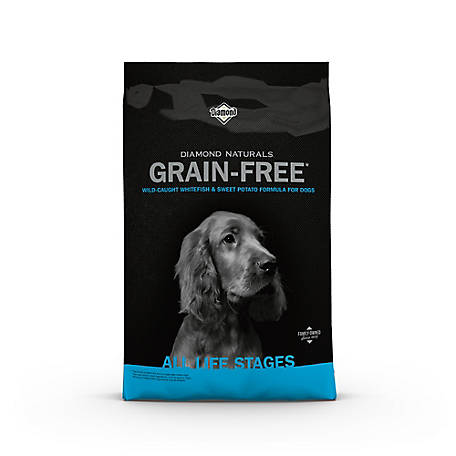 Diamond Naturals Grain-Free Wild-Caught Whitefish & Sweet Potato Formula Dog Food, 28 lb. Bag