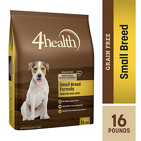 4health Grain Free Small Breed Formula Adult Dog Food, 16 lb. Bag