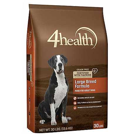 4health Grain Free Large Breed Formula Adult Dog Food, 30 lb. Bag
