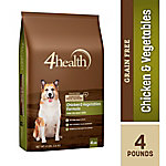 4health Grain-Free Chicken & Vegetables Formula Adult Dog Food, 4 lb. Bag